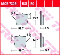 Bremsbelag MCB730SI