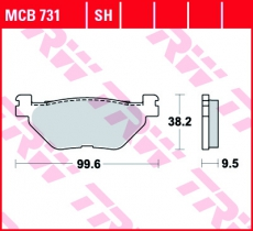 Bremsbelag MCB731