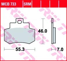Bremsbelag MCB733
