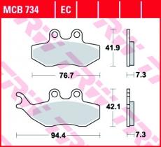 Bremsbelag MCB734