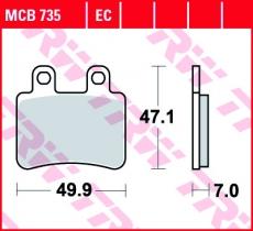 Bremsbelag MCB735
