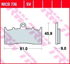 Bremsbelag MCB736