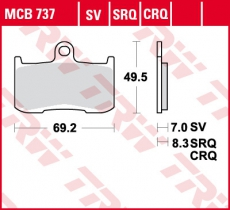 Bremsbelag MCB737SRQ