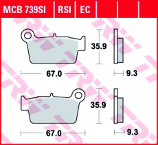 Bremsbelag MCB739SI