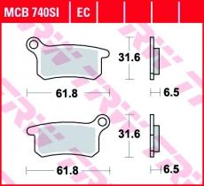 Bremsbelag MCB740SI