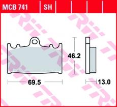 Bremsbelag MCB741