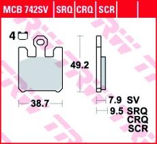 Bremsbelag MCB742SV