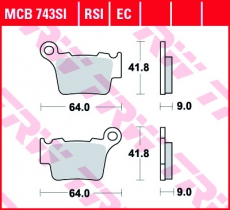 Bremsbelag MCB743SI