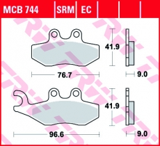 Bremsbelag MCB744