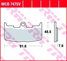 Bremsbelag MCB747SV