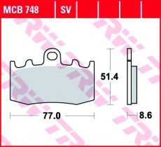 Bremsbelag MCB748