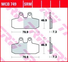 Bremsbelag MCB749