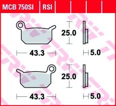 Bremsbelag MCB750SI
