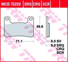 Bremsbelag MCB752SV