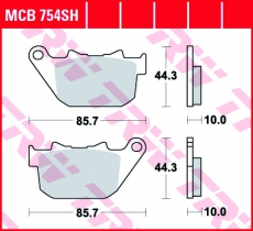 Bremsbelag MCB754SH