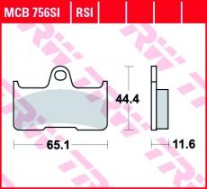 Bremsbelag MCB756SI