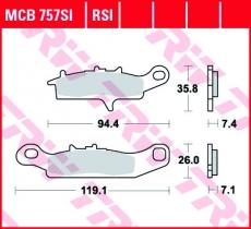Bremsbelag MCB757SI
