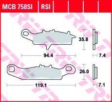 Bremsbelag MCB758SI