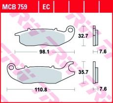 Bremsbelag MCB759
