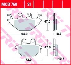 Bremsbelag MCB760