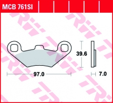 Bremsbelag MCB761SI