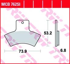 Bremsbelag MCB762SI