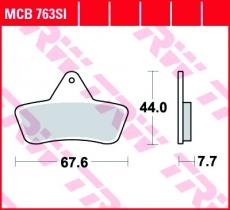 Bremsbelag MCB763SI