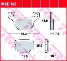Bremsbelag MCB765