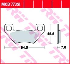 Bremsbelag MCB773SI