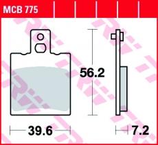 Bremsbelag MCB775