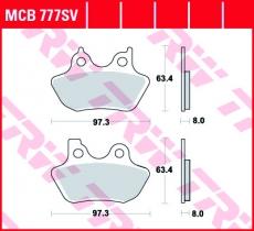 Bremsbelag MCB777SV