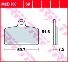 Bremsbelag MCB780