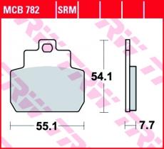 Bremsbelag MCB782