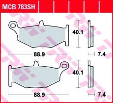 Bremsbelag MCB783SH