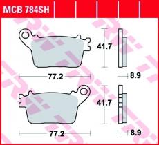 Bremsbelag MCB784SH