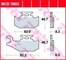 Bremsbelag MCB788SI