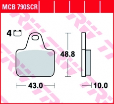 Bremsbelag MCB790SCR