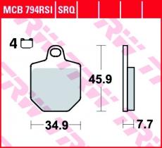 Bremsbelag MCB794RSI
