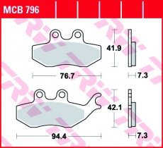 Bremsbelag MCB796
