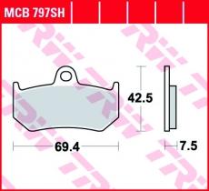 Bremsbelag MCB797SH