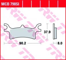 Bremsbelag MCB798SI