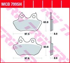 Bremsbelag MCB799SH
