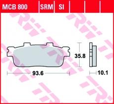 Bremsbelag MCB800