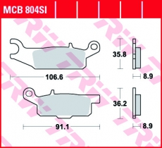 Bremsbelag MCB804SI