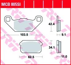 Bremsbelag MCB805SI