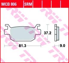 Bremsbelag MCB806