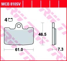 Bremsbelag MCB810SV