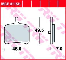 Bremsbelag MCB811SH