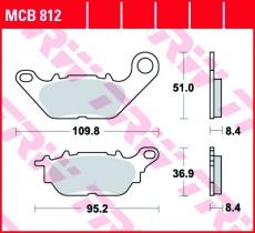 Bremsbelag MCB812