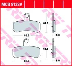 Bremsbelag MCB813SV